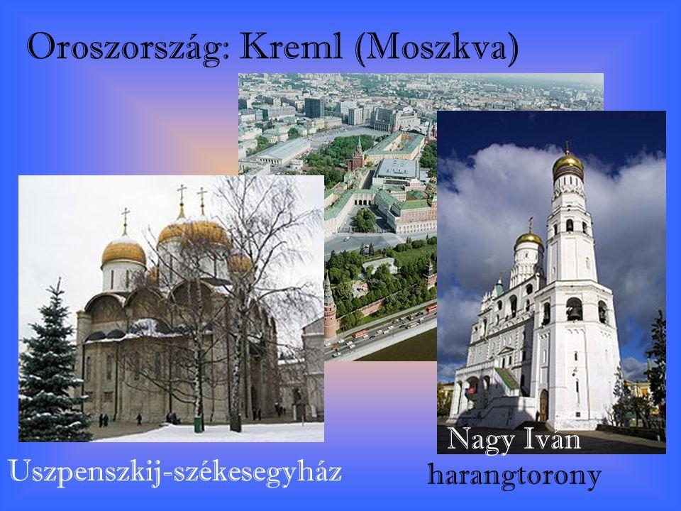 Oroszország: Kreml (Moszkva) Uszpenszkij-székesegyház Nagy Iván harangtorony