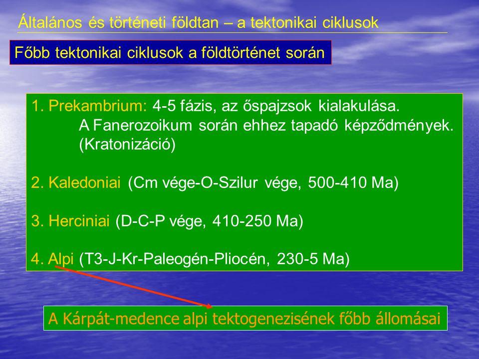 A tektonikai ciklus (azaz tektogenezis): 1.Árok szakasz, riftesedés.