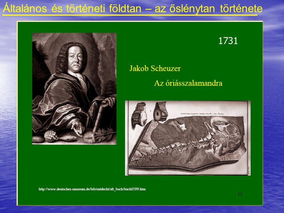 Általános és történeti földtan – az őslénytan története 1726