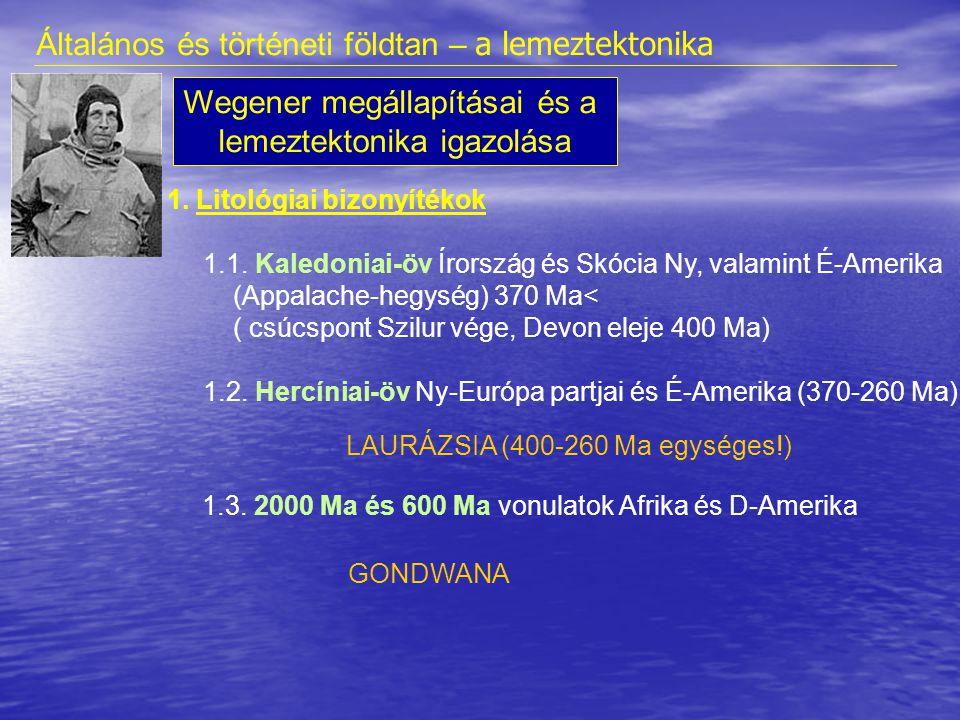 2.Őslénytani bizonyítékok • Glossopteris flora • Szárazföldi hüllők (pl.