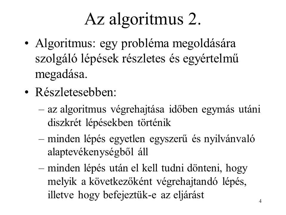 4 Az algoritmus 2.