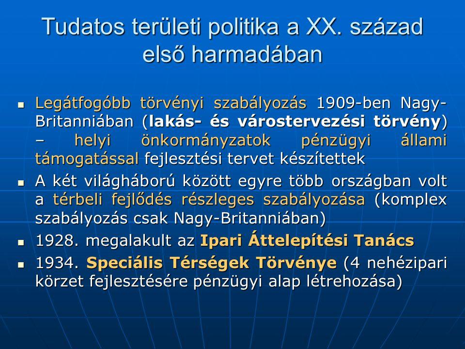 Tudatos területi politika a XX.