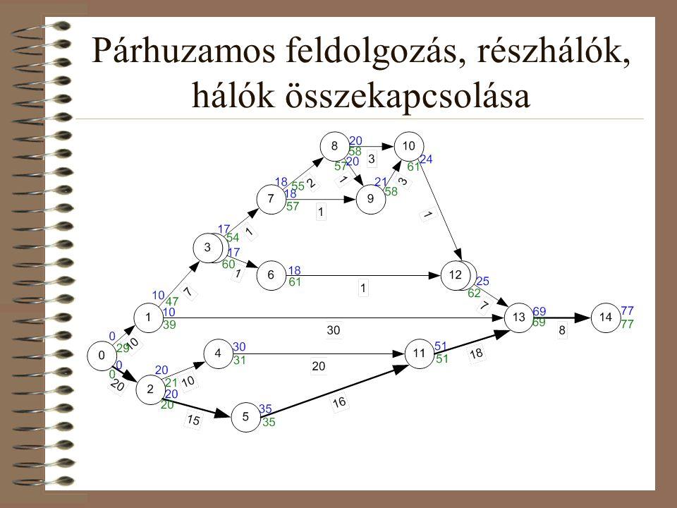 Párhuzamos feldolgozás, részhálók, hálók összekapcsolása