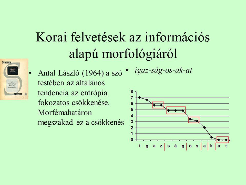 Kiterjesztve a nyelvre •Értelmességhatás •Szavak és mondatok •Statisztikai közelítés szintje