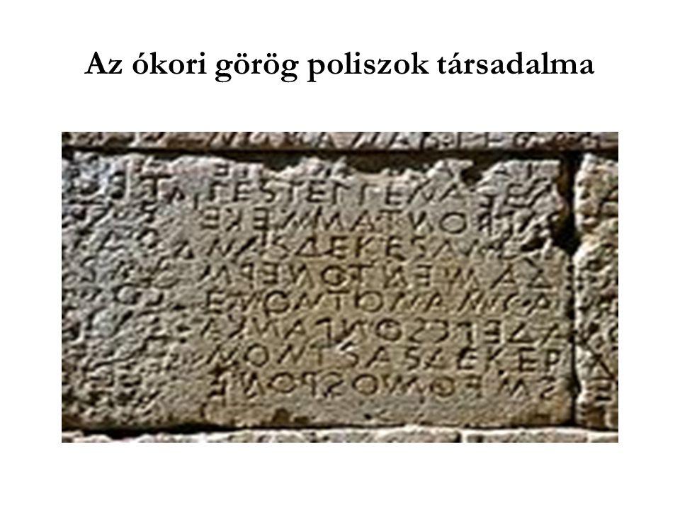 Az ókori görög poliszok társadalma