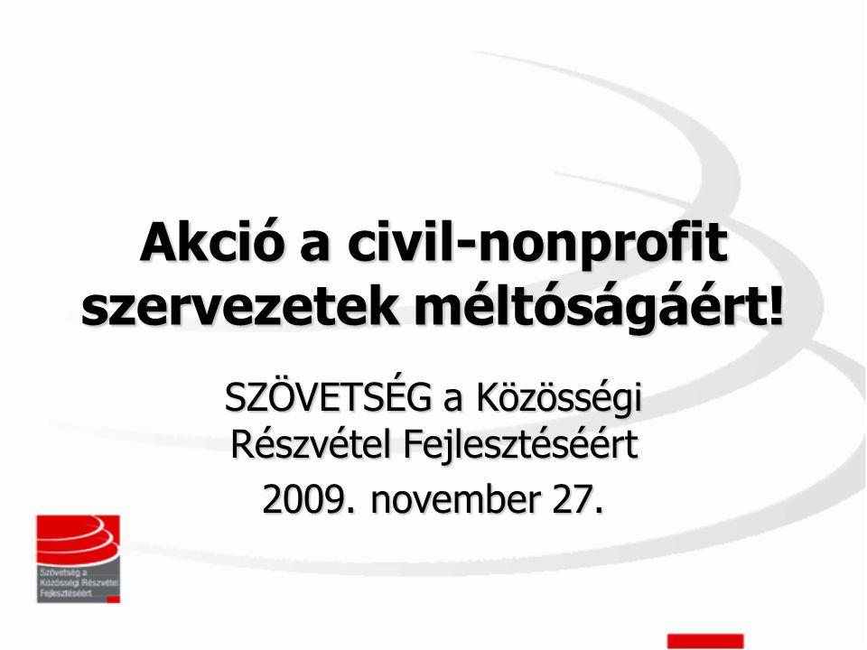 Akció a civil-nonprofit szervezetek méltóságáért.