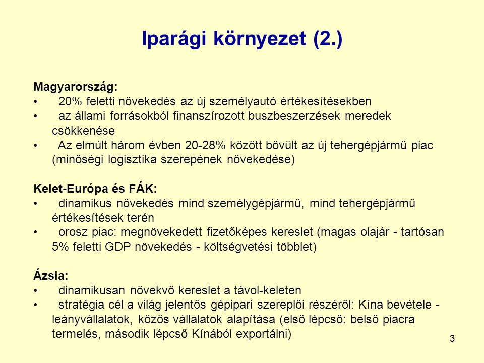 4 Iparági környezet (3.)
