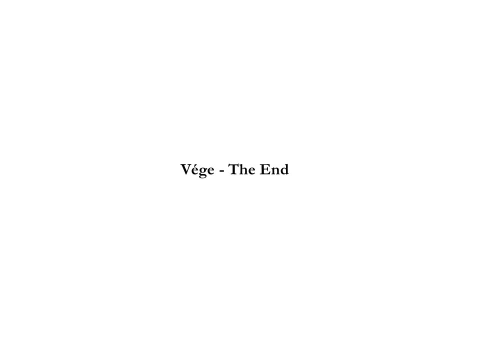 Vége - The End