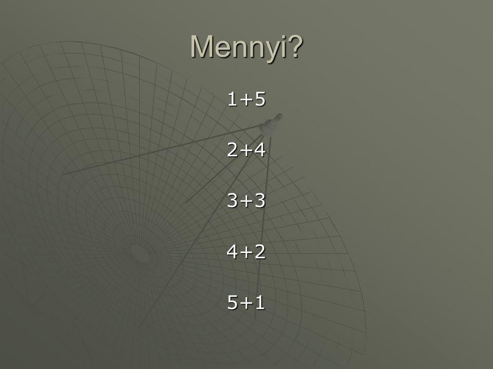Mennyi? 1+52+43+34+25+1
