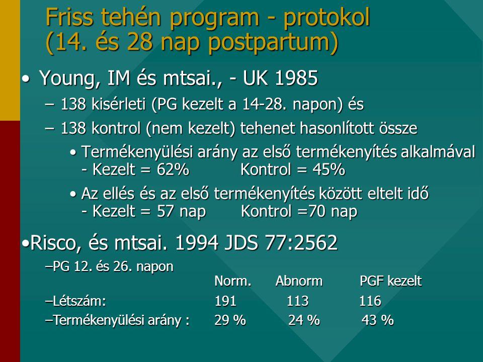 Friss tehén program - protokol (14.