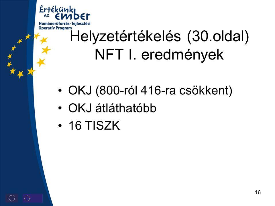 16 Helyzetértékelés (30.oldal) NFT I.