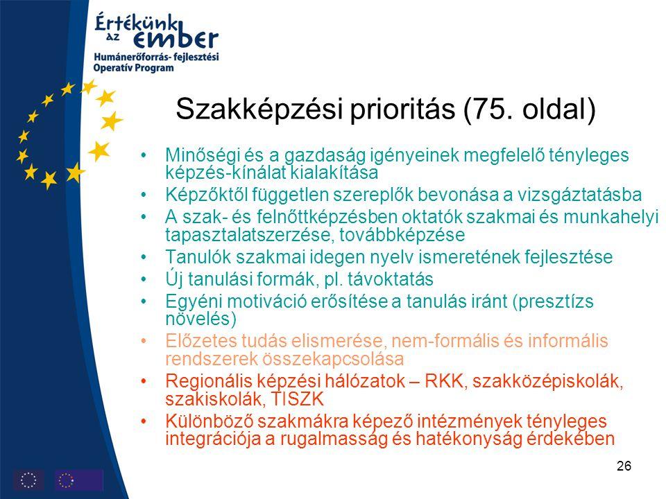 26 Szakképzési prioritás (75.