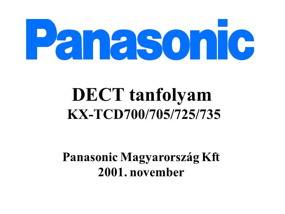 DECT tanfolyam KX-TCD700/705/725/735 Panasonic Magyarország Kft 2001. november