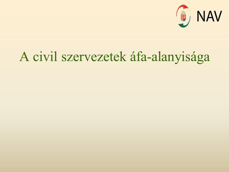 A civil szervezetek áfa-alanyisága