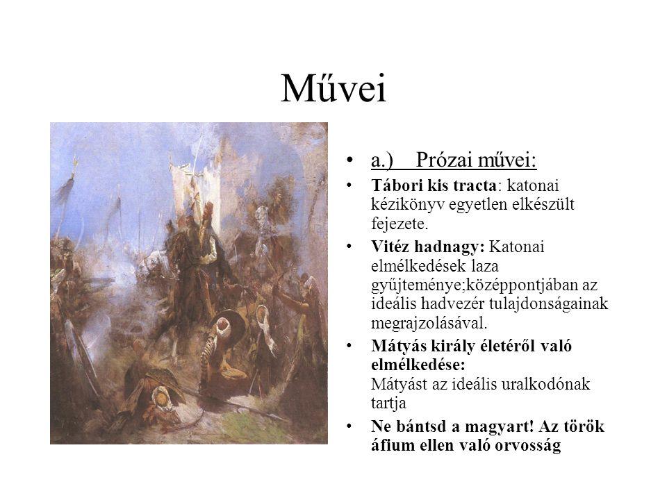 b.) Verses művei: 1651-ben Bécsben jelent meg az Adriai tengernek syrenaia.