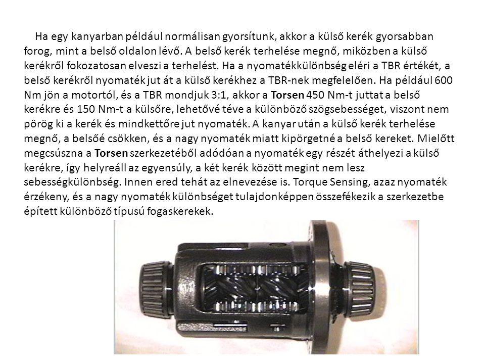A Torsen-nek alapvetően 3 féle típusát gyártják.Elnevezésük viszonylag egyszerű: T-1, T-2, T-3.