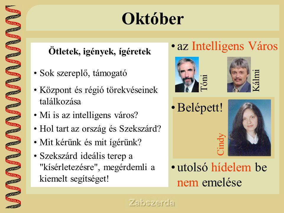 Október •az Intelligens Város •Belépett.
