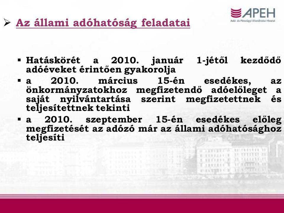  a tevékenységüket 2009.december 31-ét követően megszüntető adózók 2010.