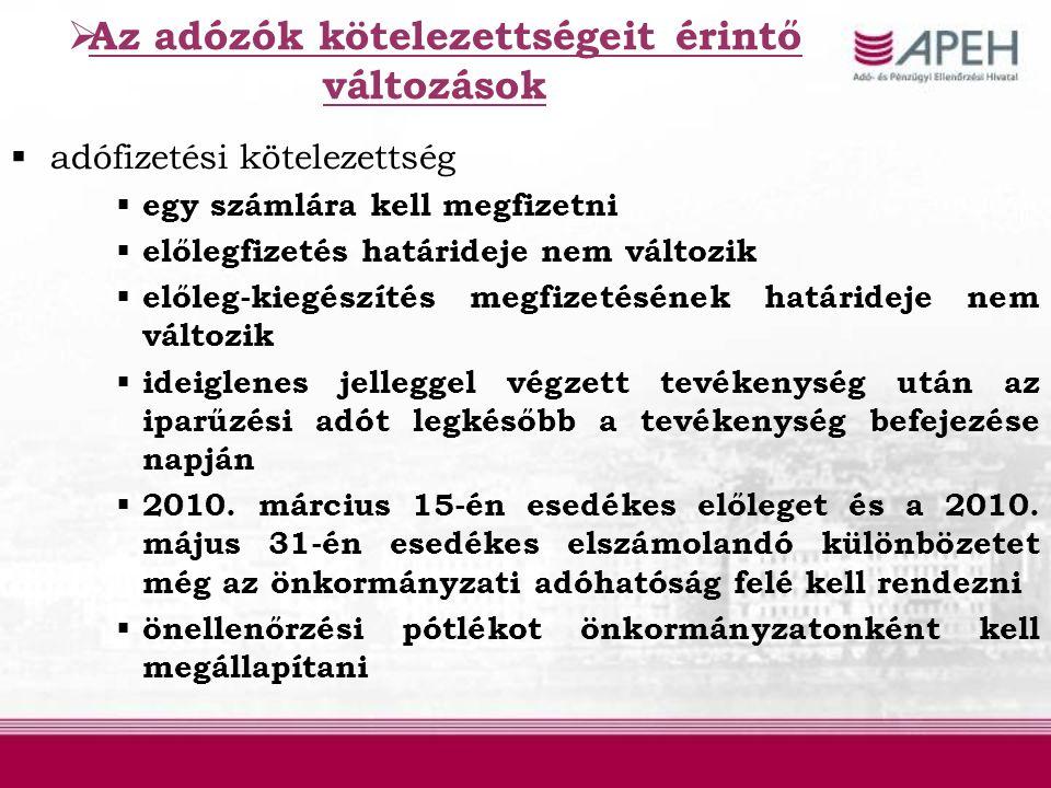 Az önkormányzatok adatszolgáltatási kötelezettsége  2010.