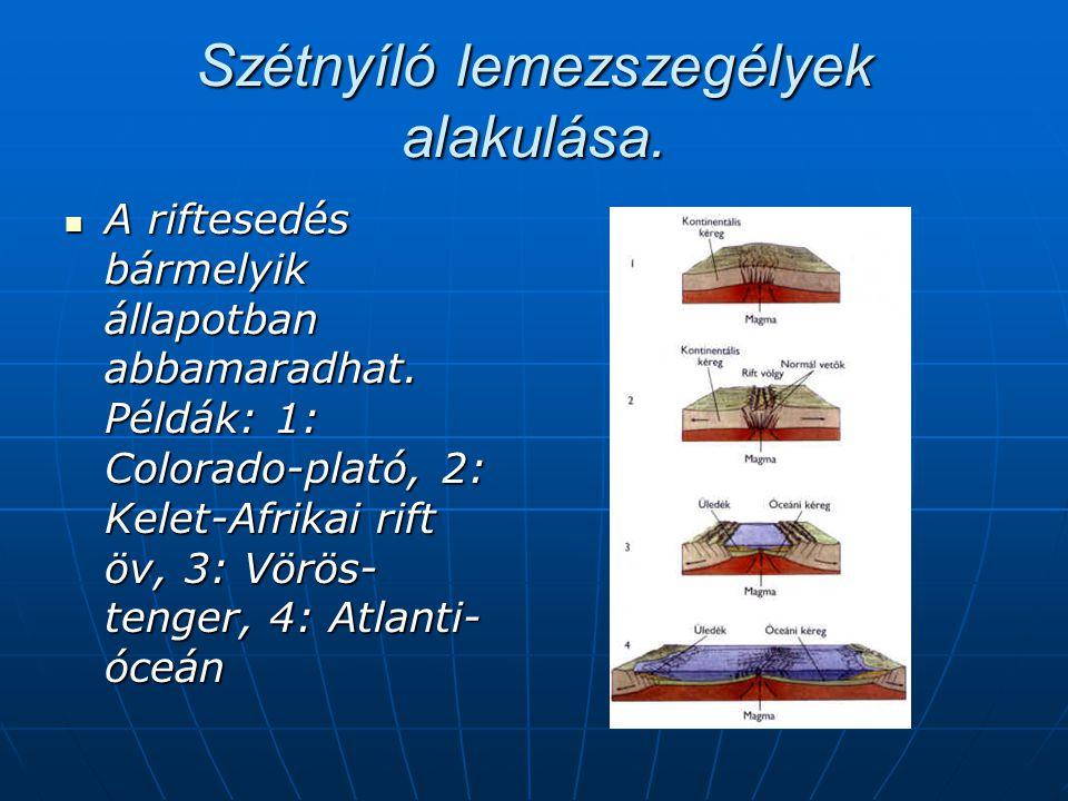  A transzform vetõk az óceáni hátsággal egyidejûleg képzõdnek.