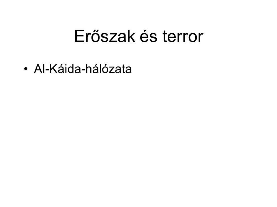 Erőszak és terror •Al-Káida-hálózata
