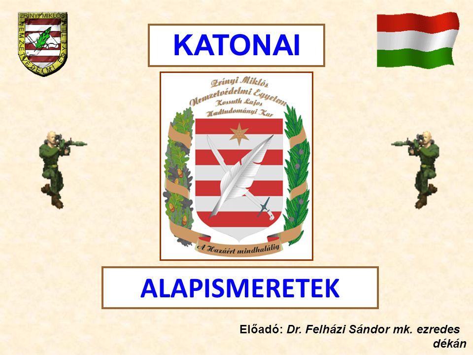 ALAPISMERETEK KATONAI Előadó: Dr. Felházi Sándor mk. ezredes dékán