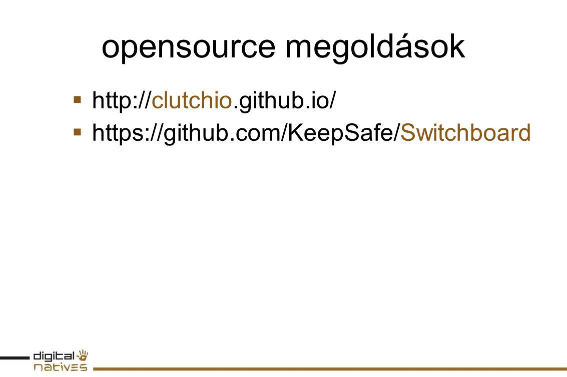 opensource megoldások  http://clutchio.github.io/  https://github.com/KeepSafe/Switchboard