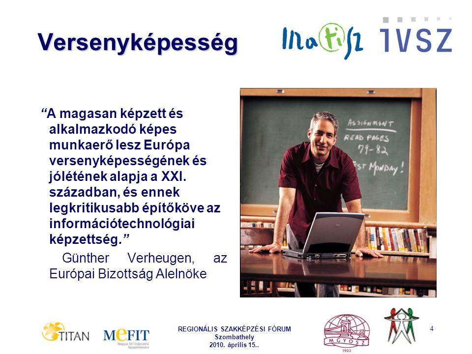 REGIONÁLIS SZAKKÉPZÉSI FÓRUM Szombathely 2010. április 15..