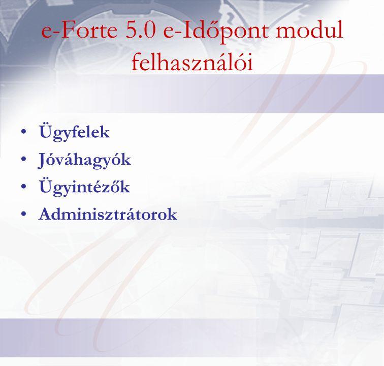 Vezetői információk •Az ügyfélfogadás jellemző adatiról, szervezeti egységenként és időszakonként (továbbá ügyintézőnként és ügytípusonként) jelentés generálható •A kész jelentés xls és pdf állományba exportálható •Kimutatás készíthető az ügyfelek számáról, összmunkaidőről továbbá a munkaidő átlagáról