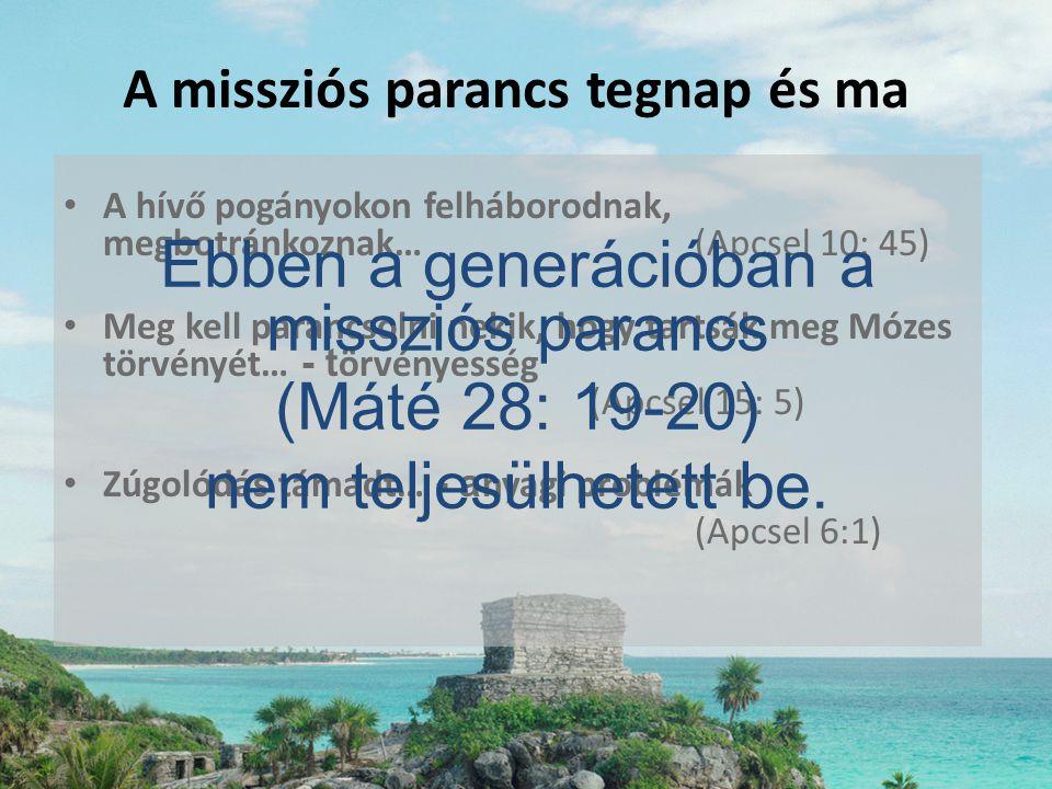 • A hívő pogányokon felháborodnak, megbotránkoznak…(Apcsel 10: 45) • Meg kell parancsolni nekik, hogy tartsák meg Mózes törvényét… - t örvényesség (Ap