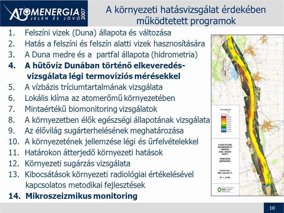 11 A környezeti hatásvizsgálat eredménye •A tanulmány sem az eddigi üzemelés, sem a továbbüzemelés során nem tárt fel az erőmű működéséből adódó, környezetet károsító hatásokat.