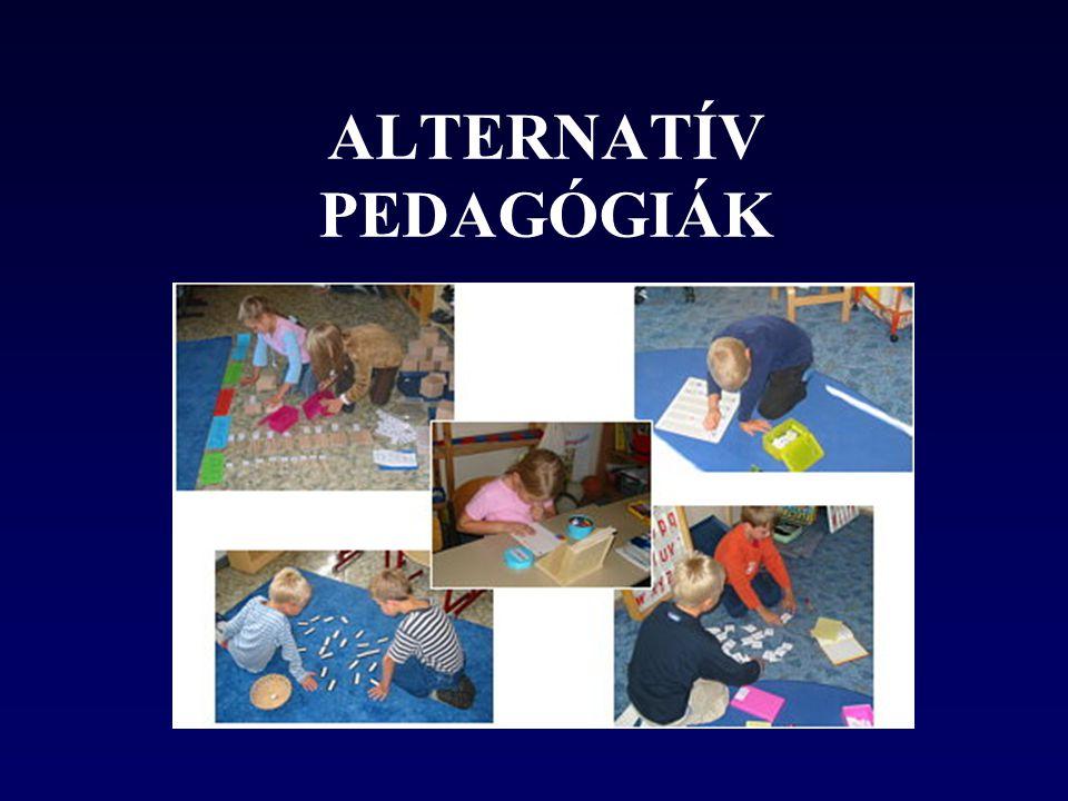 A gyerek személyiségének fokozott figyelembevétele •Gyermekcentrikusság •A tanulás öröme •A verseny kizárása •Személyre szóló értékelés •Tanár felkészülése •A tananyag •Szabályok és rend •A felvételi rendszer •A vezetés