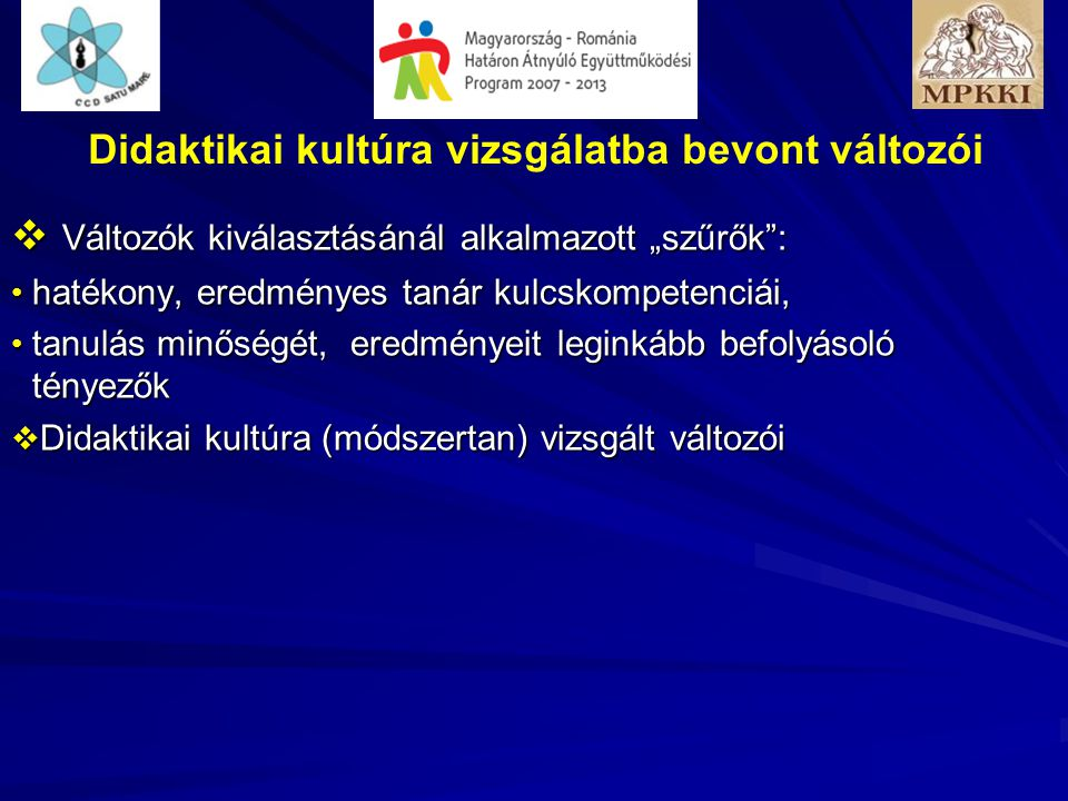 Minősítés megoszlása (folyt.) Kiváló és jó minősítéshez tartozó mutatószám kiegyenlített közepes minősítés lényegesebb eltérést mutat romániai tanórák legalsó sávjában jelentősen több szempontot minősítettek alacsonyabb értékkel, A tanórák 21-40%-ról a romániai értékelők több szempont szerint, s egyben árnyaltabb véleményt fogalmaztak meg.