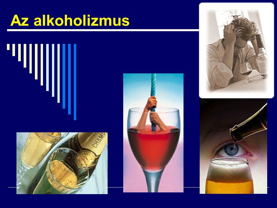 Az alkoholizmus betegségfelfogása  Primér  Krónikus  Progresszív  Halálos  Gyógyíthatatlan, de kezelhető és tünetmentesen tartható  A tagadás betegsége  A magány betegsége  Családi betegség, vagyis  Megbetegíti a környezetet is