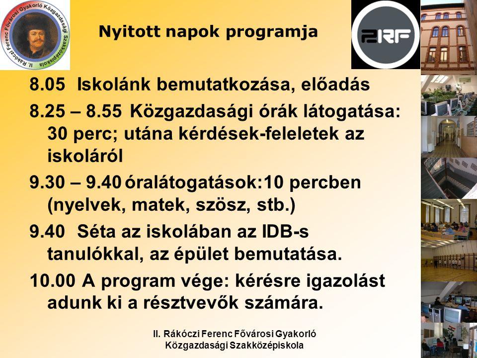 II.Rákóczi Ferenc Fővárosi Gyakorló Közgazdasági Szakközépiskola Osztályok 2012/13.