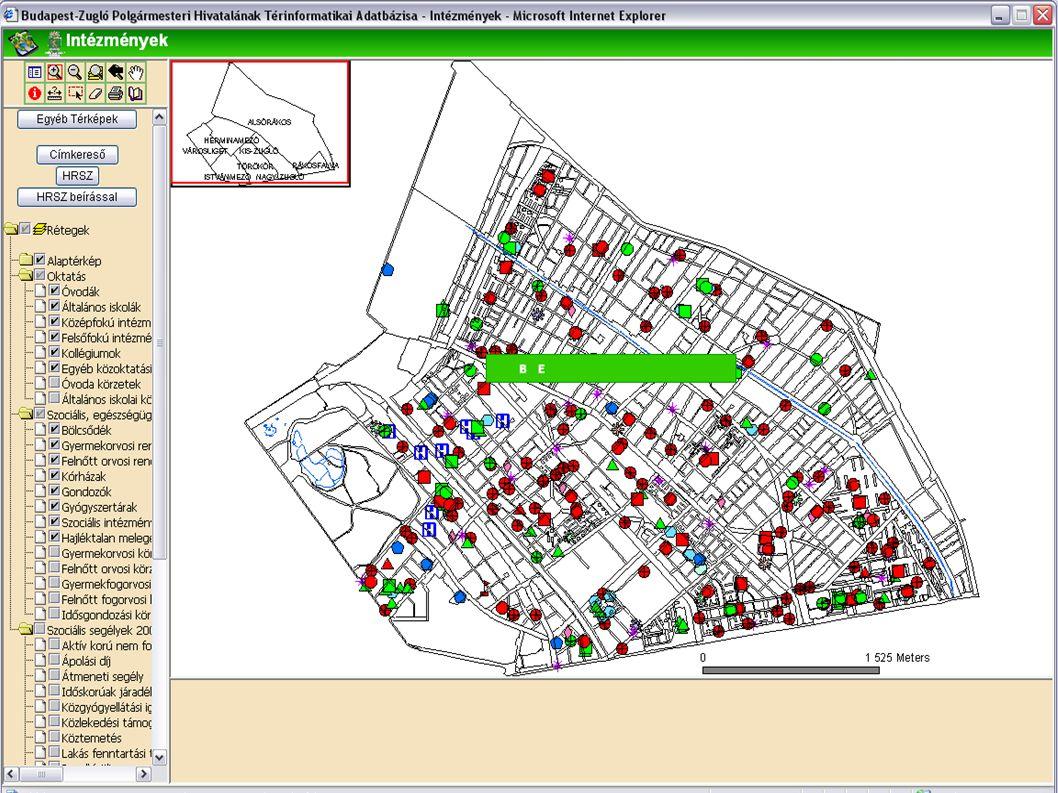 A térképi réteg illetve leíró adatok frissítése használat közben  Amikor az alkalmazásban bármilyen adatfrissülés történik a képernyőn (új térkép raj