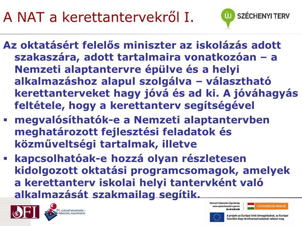 A NAT a kerettantervekről II.