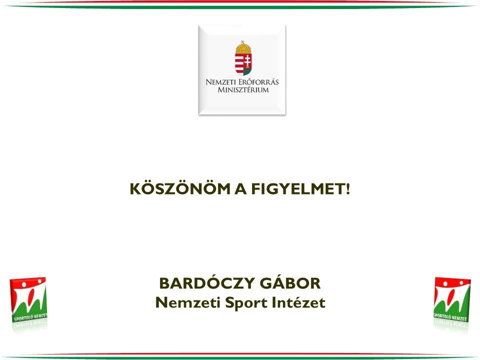 KÖSZÖNÖM A FIGYELMET! BARDÓCZY GÁBOR Nemzeti Sport Intézet