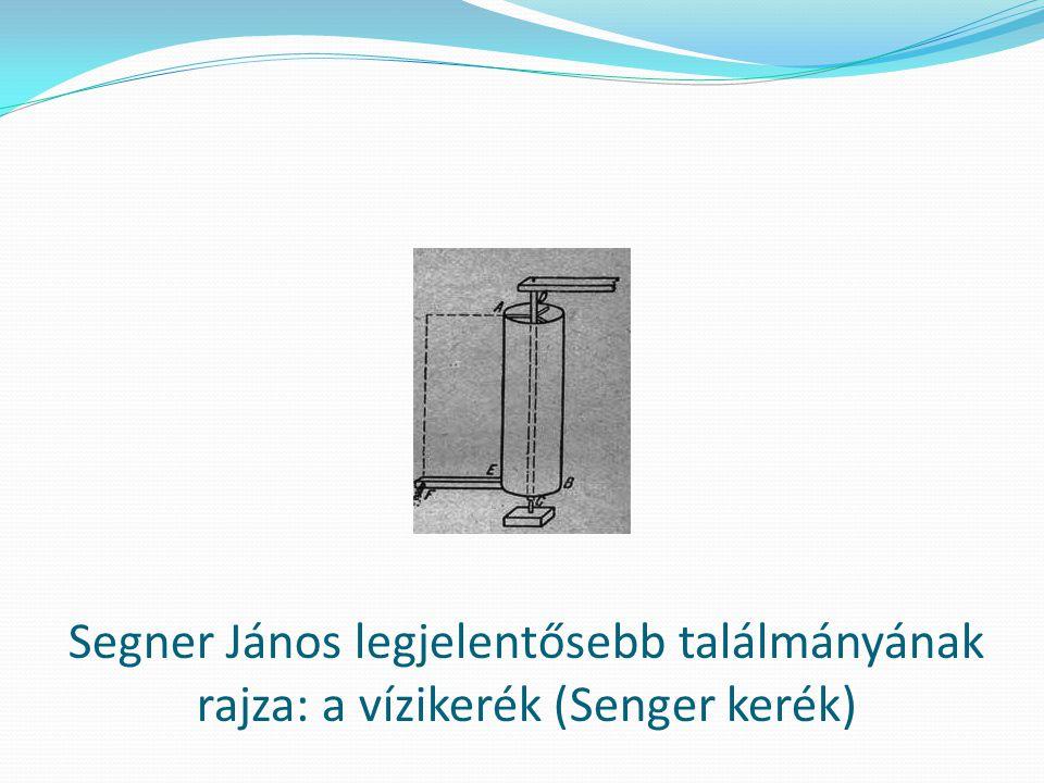 A Segner kerék másik ábrázolása. A vízikerék a mai turbinák alapját szolgáltatja.