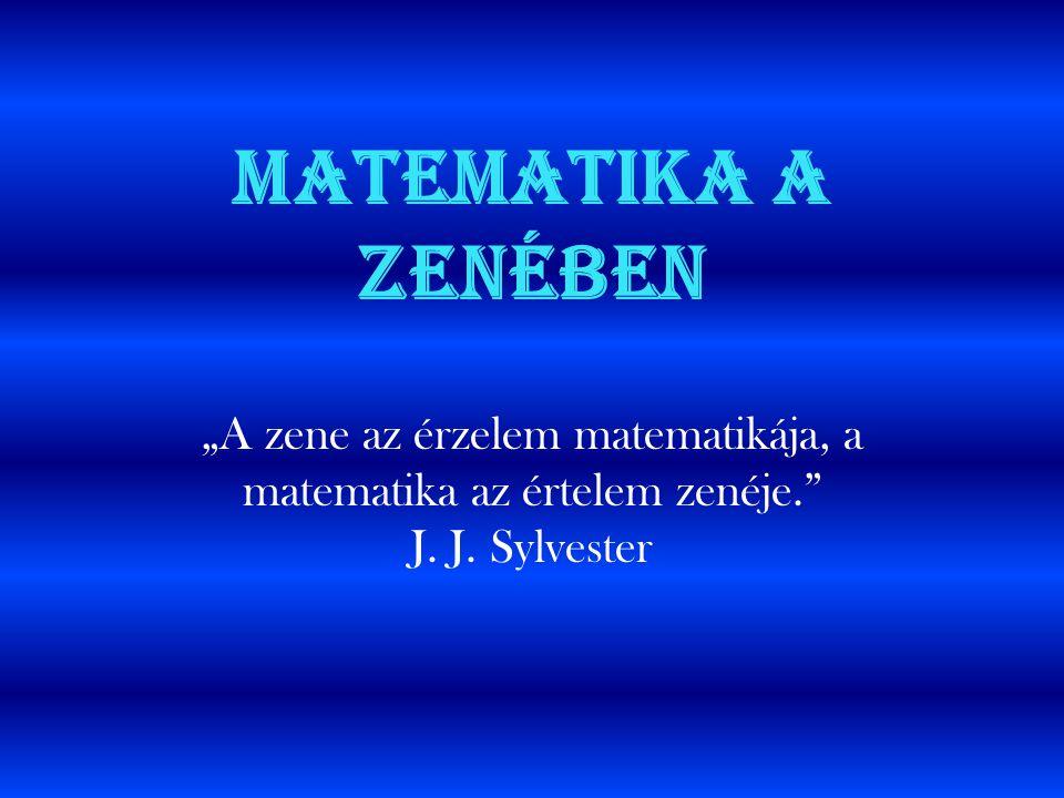 """Matematika a zenében """"A zene az érzelem matematikája, a matematika az értelem zenéje."""" J. J. Sylvester"""