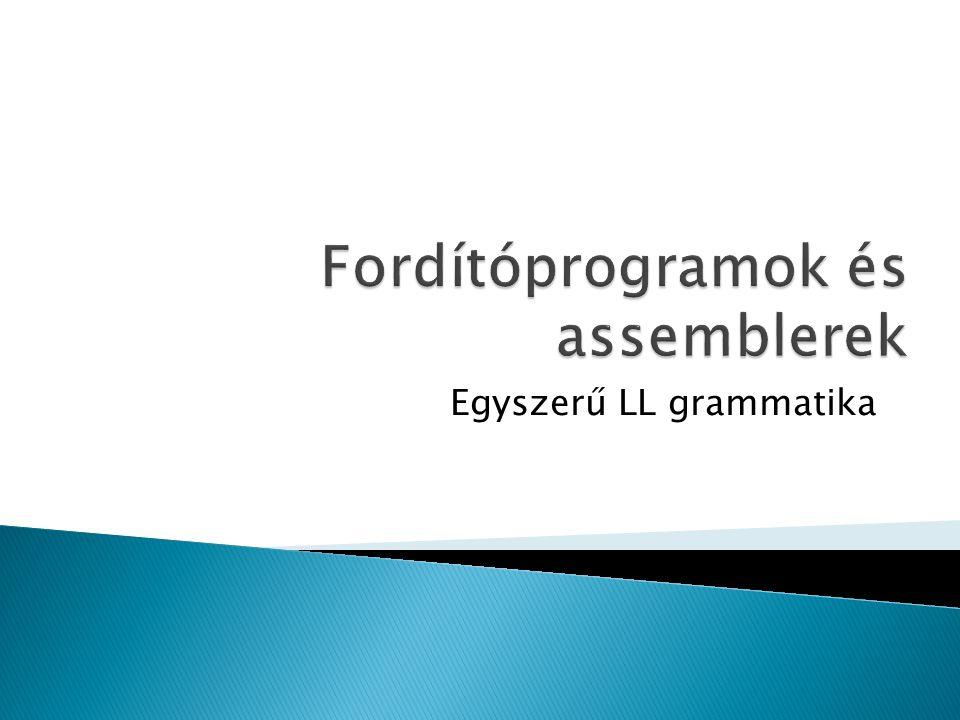 Egyszerű LL grammatika
