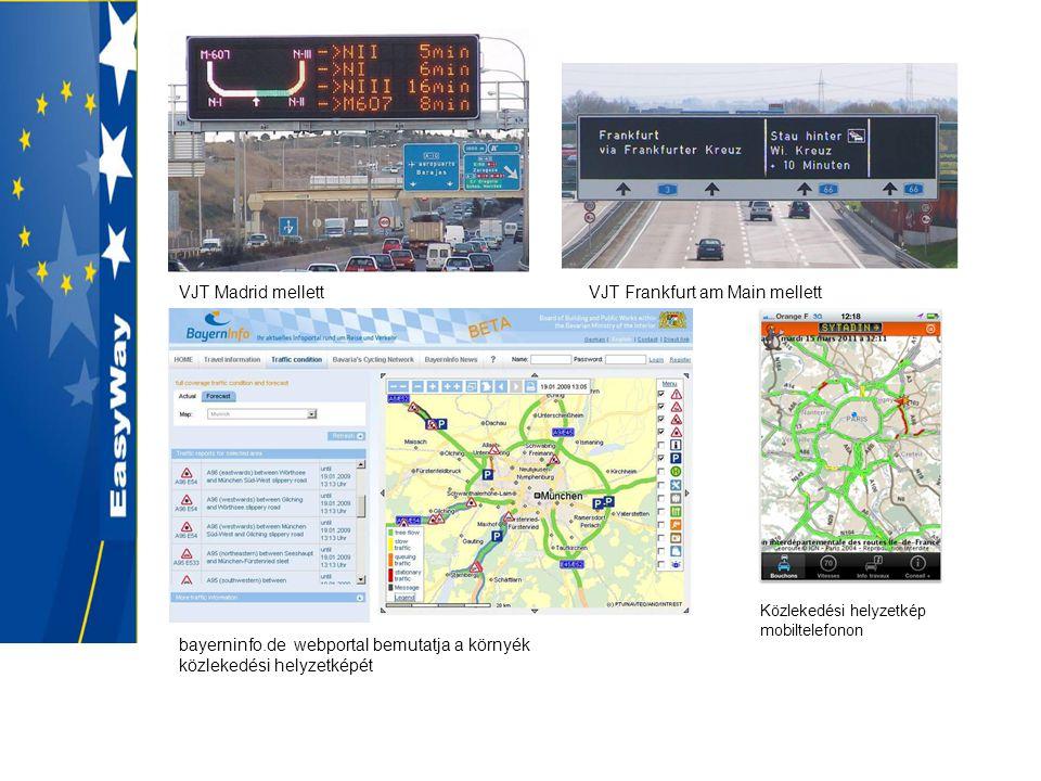 VJT Madrid mellettVJT Frankfurt am Main mellett bayerninfo.de webportal bemutatja a környék közlekedési helyzetképét Közlekedési helyzetkép mobiltelefonon