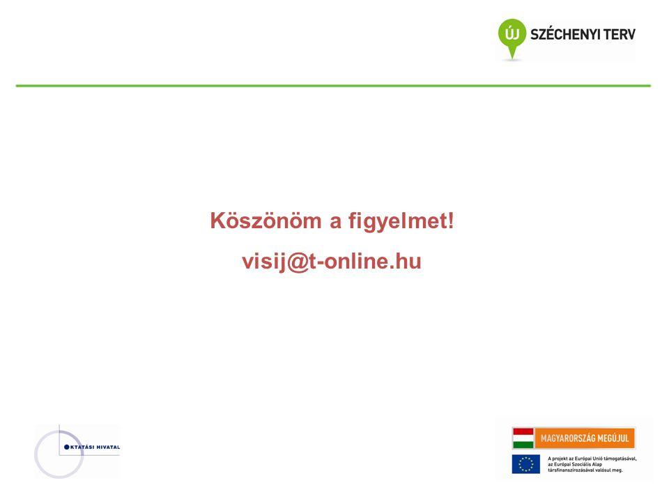 Köszönöm a figyelmet! visij@t-online.hu