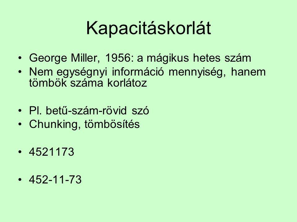 Nyelvi következmények •1. feldolgozási korlát és átvitte információ •2. redundancia és szófelismerés •3. statisztikai közelítések a nyelvhez és a feld