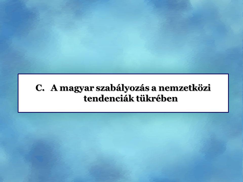C.A magyar szabályozás a nemzetközi tendenciák tükrében