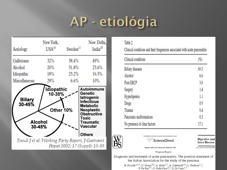 Toouli J et al: Working Party Report, J Gastroent Hepat 2002; 17 (Suppl): 15-39