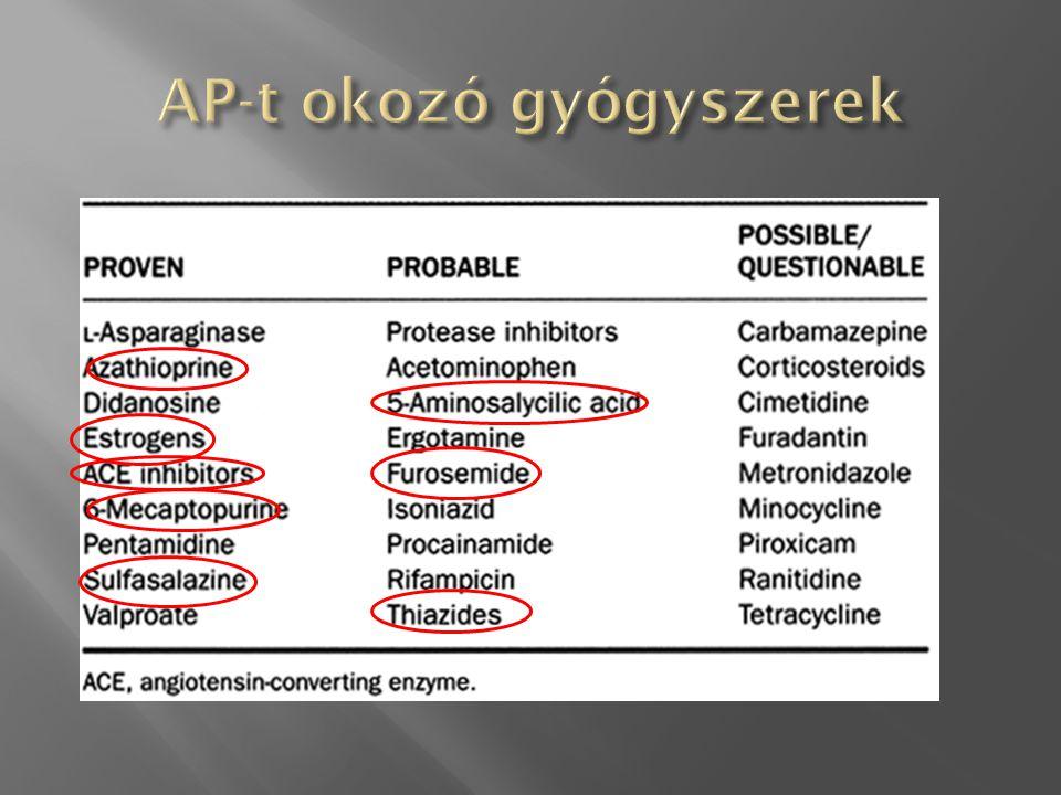  Kisebb, néha prospektív study-k vagy állatkísérletek  NO, NSAID, SST-OCT, PAF-R  Nincs kimutatható klinikai haszon  Antiproteázok (Gordox)  Evidencia nincs  A japán és az olasz ajánlás tartalmazza.