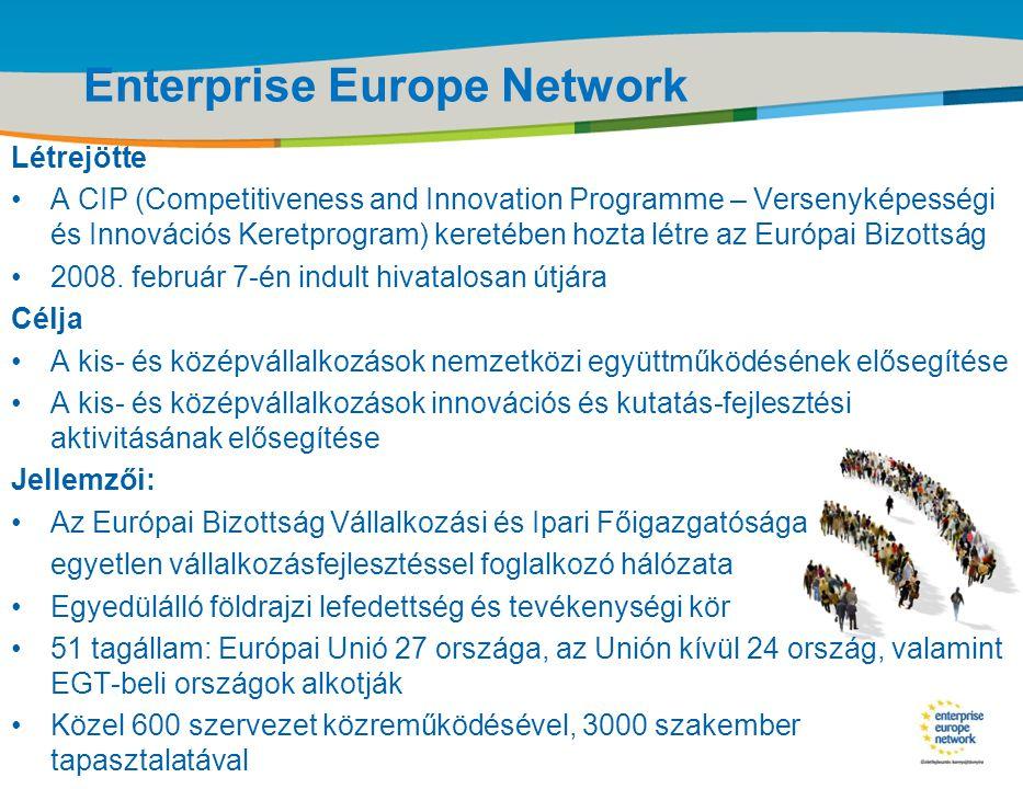 Title of the presentation | Date |‹#› Enterprise Europe Network Létrejötte •A CIP (Competitiveness and Innovation Programme – Versenyképességi és Inno