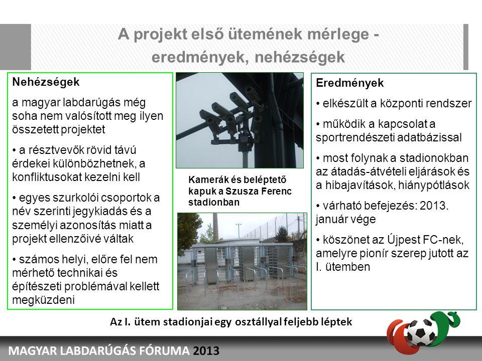 A projekt első ütemének mérlege - eredmények, nehézségek rojekt első ütemének mérlege – eredmények, nehézségek Nehézségek a magyar labdarúgás még soha