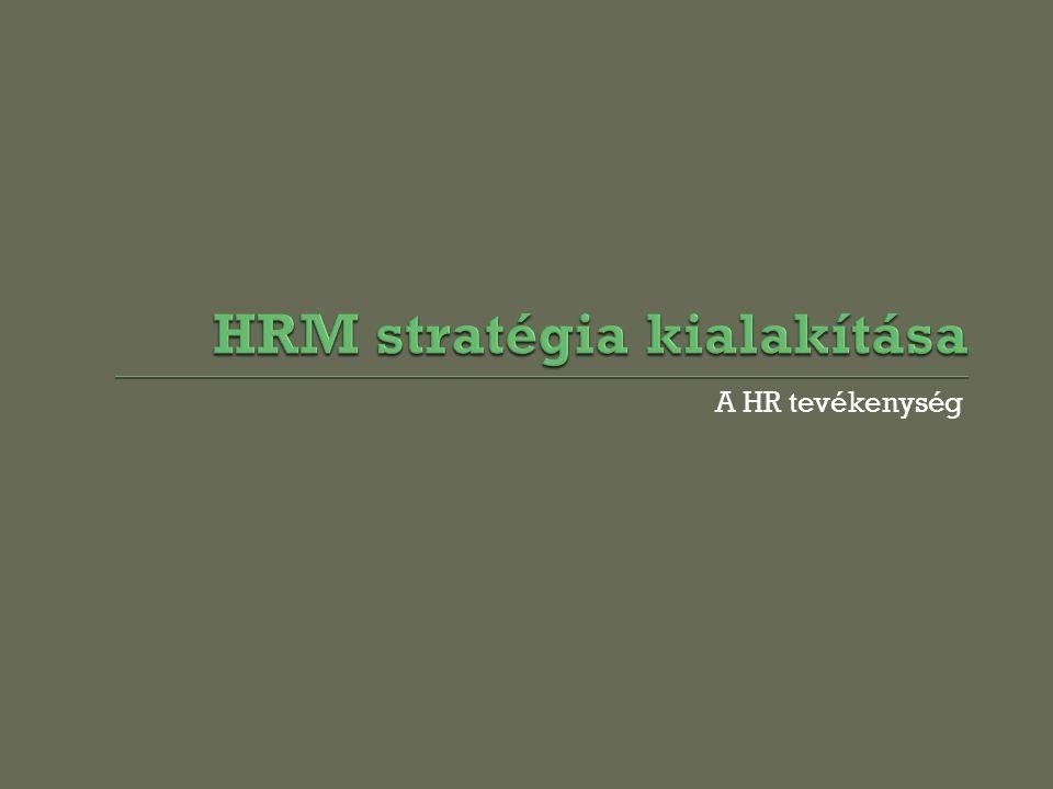 A HR tevékenység